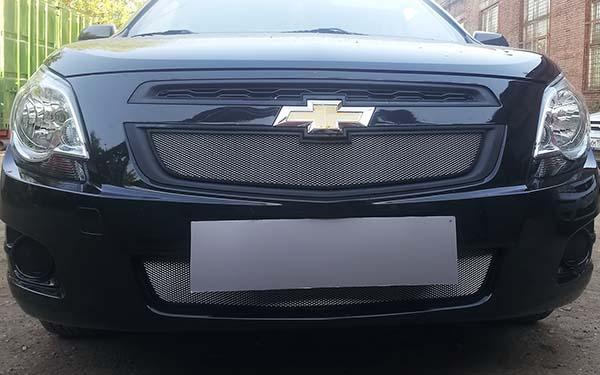 Защита радиатора на Chevrolet Cobalt (Шевроле Кобальт) 2013-2017 г.в.