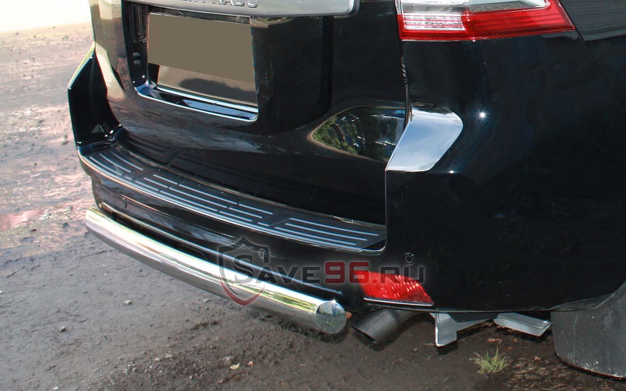 Защита Задняя – Одинарная (Овал) на br Тойота Ленд Крузер Прадо, 1119832ec2d